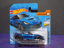 2018 Hot Wheels CORVETTE C7 Z06 CONVERTIBLE FACTORY FRESH series 9/10 Short card