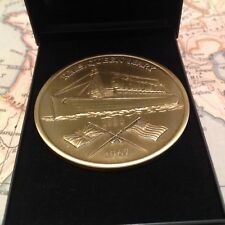 RMS QUEEN MARY COIN MEDAL (MADE FROM PROPELLER ) COLLECTABLE