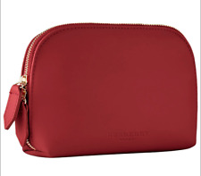 Burberry Beauty Red Makeup Cosmetics Pouch / Travel Bag, Brand NEW!
