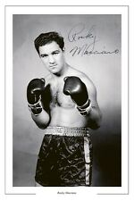 ROCKY MARCIANO BOXING SIGNED AUTOGRAPH PHOTO PRINT