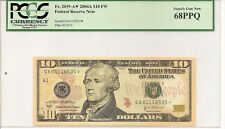 2004-A $10 FEDERAL RESERVE STAR NOTES PCGS 68PPQ