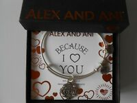 Alex and Ani Because I Love You AUNT III Bracelet Rafaelian Silver NWTBC