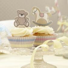 Rock A Bye Baby Shower Tableware Decorations Christening Cupcake Cases & Toppers
