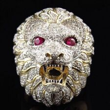 Animal Lion Ring Yellow Gold Filled Party Accessories Fashion Men Ring Size 6-10