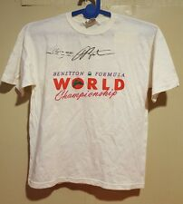 Thierry Boutsen/Alessandro Nannini signed kids T-shirt,  Formula1(1988), size XL