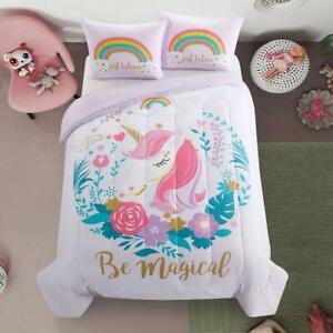 Heritage Club Panel Printed Unicorn Comforter Set