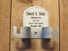 Vintage EDWARD K SICKEL Groceries General Merchandise PINEVILLE Pa Broom Holder