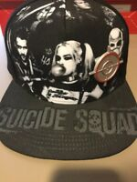 Suicide Squad IN SQUAD TRUST Character SnapBack Hat. Brand New. One Size Fits