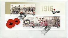 2016 Centenary of World War I (Mini Sheet) FDC - French's Forrest NSW 2086 PMK