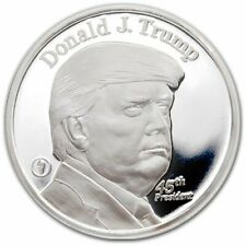DONALD J. TRUMP 100% .999 SILVER ROUND COIN ~ THESE ARE BEAUTIFULLY WELL DONE