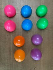 Lot Of 5 Rare Vintage 1960's Hard Plastic Easter Eggs - Mint Condition