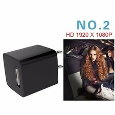 1080P USB Camera Small Hidden Spy Scoutout DVR Wall Adapter Charger+16G