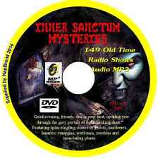 INNER SANCTUM MYSTERIES - 149 Old Time Radio Shows OTR MP3 Audio DVD Macabre
