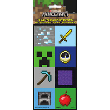 Minecraft Birthday Party Favours Lenticular Stickers 16 Pack