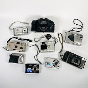 Joblot / Bundle Vintage 35mm Film / Digital Cameras For Spares Repairs Untested