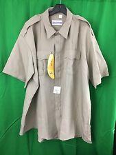 NEW Flying Cross Urban Defender Silver Tan Uniform Shirt Police Sheriff SZ 19.5