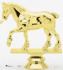 "4"" Draft Horse Trophy Figure Gold Stud Bottom New"