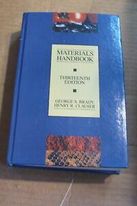 Materials Handbook Thirteenth editionby George Brady