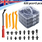 625Pcs Car Body Plastic Auto Fasteners Push Trim Clips Pin Rivet Bumper Kit