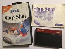 SLAP SHOT SEGA MASTER SYSTEM GAME +BOX & INSTRUCTIONS COMPLETE UK/EU PAL