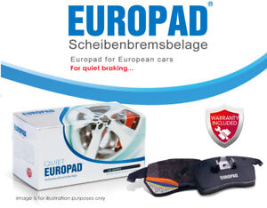 For PEUGEOT 307 [for 283mm disc rotors] 01-08 FRONT Disc Euro Brake Pads DB1758