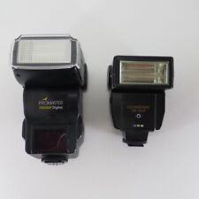 2 Digital Camera Flashes ProMaster 7200Edf Quantaray Qb 350A Electronic Flash