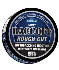 BACC-OFF Non-Tobacco Nicotine Free Herbal Snuff - Mint - 5 Cans