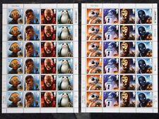 Star Wars: The Last Jedi 48 sellos, Aliens & Droids. condición de menta, hojas de media