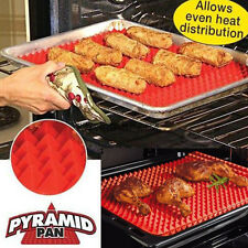 Pyramid Pan Non Stick Fat Reducing Silicone Cooking Mat Oven Baking Tray Sheets