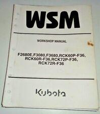 Kubota F2680E F3080 F3680 Front Mower Tractor Service Shop Workshop Manual OEM!