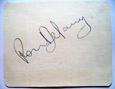 Ron Delaney Olympique 1956 1500 m médaille d'or gagnant Original encre autographe