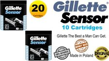 100%Authentic Gillette Sensor Razor Comfort Blade 20 Cartridges (Made in Poland)
