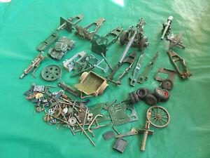 Britains/ Crescent Military vehicles & artillery guns lots of original spares