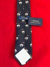 BNWT POLO Ralph Lauren Lana Laine Wool Elephant Motif Tie Gift Idea