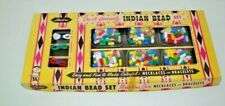 Vintage RARE Toy Indian Bead Set Necklaces & Bracelets Hassenfeld Bros.(Hasbro)