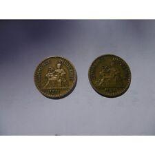 2 PIECES-BON POUR 2 FRANCS-1921 ET 1924-ETAT TTB