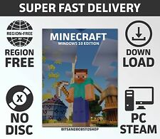 Minecraft Windows 10 Edition PC LICENSED Key - NO DISC (20 Min Delivery)