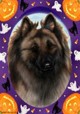 Belgian Tervuren Cream & Black Halloween Howls Flag
