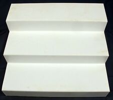 White Plastic 3 Three-Tier Expandable Action Figure Step Display Stand 13x11x6""