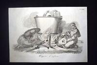 Incisione d'allegoria e satira Condanna alla libertà, Bologna Don Pirlone 1851