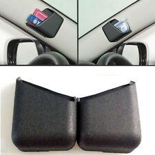 2pcs Black Universal Car Accessories Phone Pen Organizer Storage Bag Box Holder
