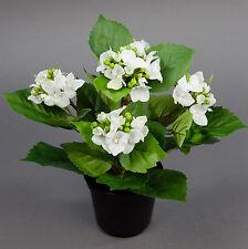Hortensienbusch Natura 26cm weiß im Topf PF künstliche Hortensie Kunstpflanzen