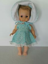 "Vintage EEGEE Co. Blonde Blue Eyes 14""Doll Drink and Wet. Eyes Close."