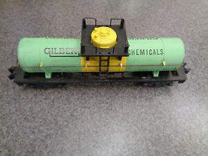 American Flyer S Gauge 1954 Only #910 Gilbert Chemicals Tank Car, Very Nice Car