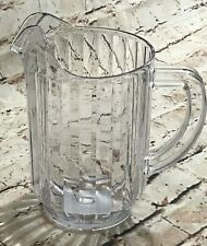 New 32oz Water Juice Pitcher (Clear / Heavy Duty) Kitchen Bedside Personal Size