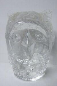 VINTAGE ORIGINAL PUKEBERG SWEDEN GLASS OWL STATUE FIGURINE SCANDINAVIAN
