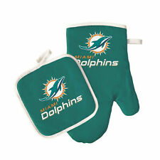 Miami Dolphins Oven Mitt and Pot Holder Set