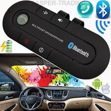 Wireless Bluetooth Car Kit Handsfree Speaker Phone Visor Clip for Android iPhone Black
