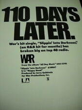 War Slippin' Into Darkness 110 Days Later. 1972 Promo Poster Ad mint condition