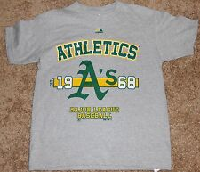 "Kids Grey short sleeve tee shirt featuring ""Athletics"" A's MLB, size is small"